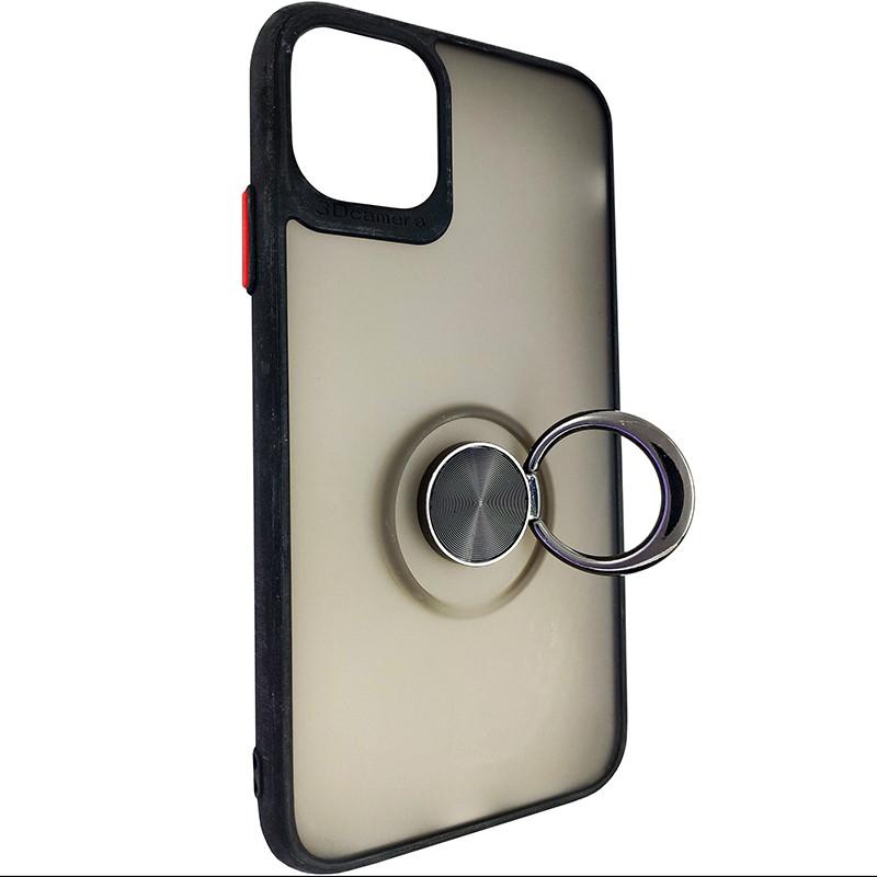 Чохол Totu Copy Ring Case iPhone 11 Black+Red - 2