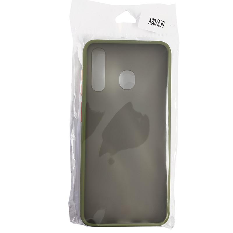 Чохол Totu Copy Gingle Series for Samsung A20/A30 Dark Green+Orange - 4
