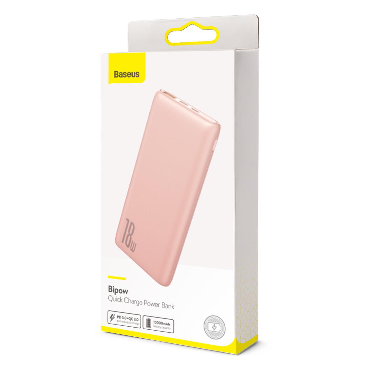 Power Bank Baseus Bipow PD+QC 10000mAh Pink - 5