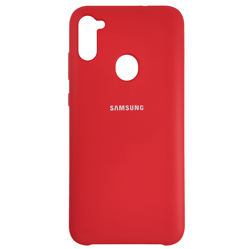 Чохол Silicone Case for Samsung A11/M11 Red(14) - 1