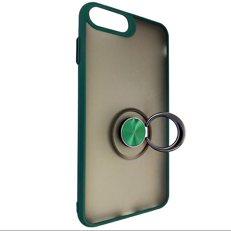 Чохол Totu Copy Ring Case iPhone 6/7/8 Plus Green+Black - 2