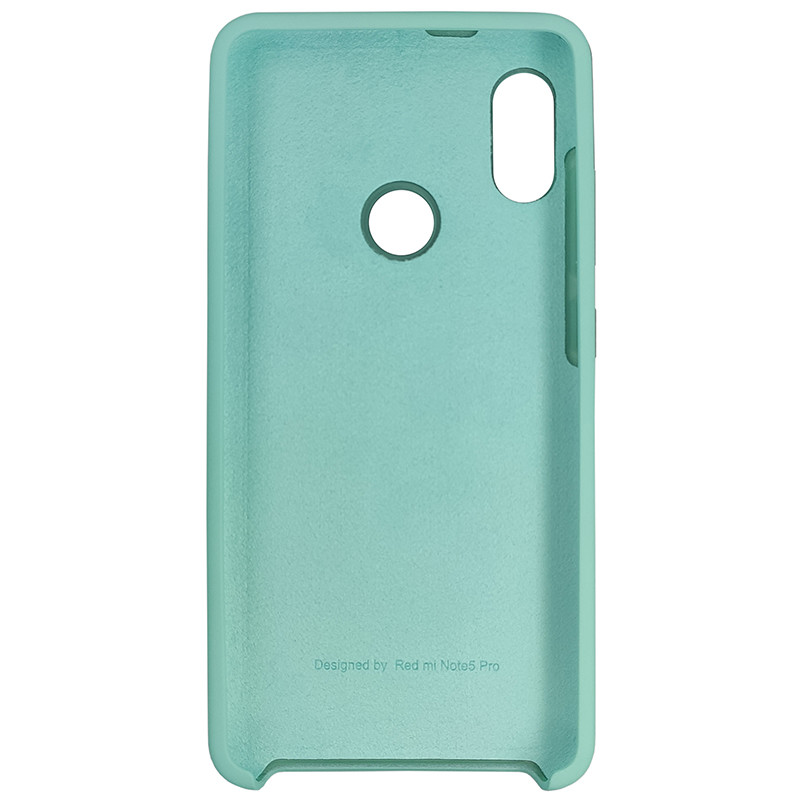 Чохол Silicone Case for Xiaomi Redmi Note 5 Pro Ice Sea Blue (21) - 3