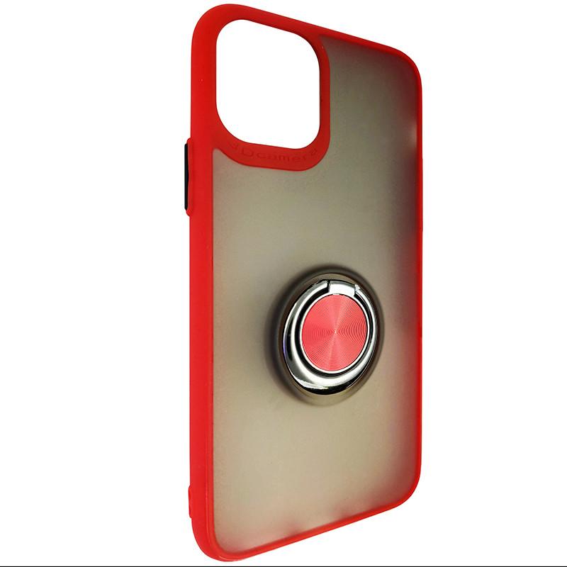 Чохол Totu Copy Ring Case iPhone 11 Pro Red+Black - 1