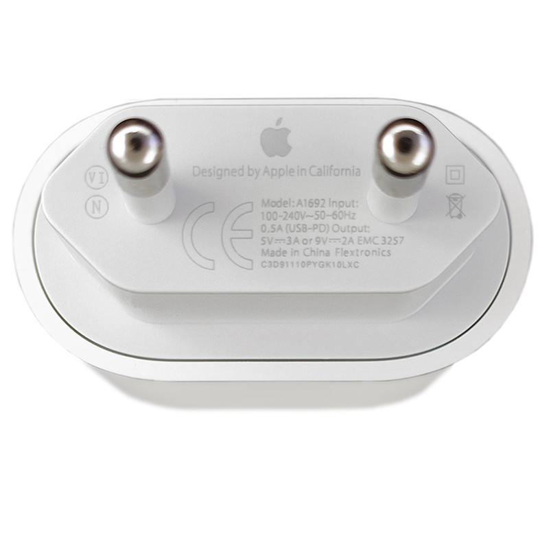 Зарядное устройство Apple 18W USB-C Power Adapter (MU7V2ZM/A) - 3