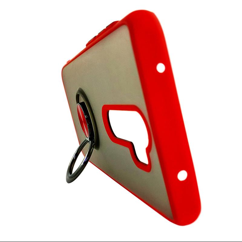 Чохол Totu Copy Ring Case Xiaomi Redmi Note 8 Red+Black - 4