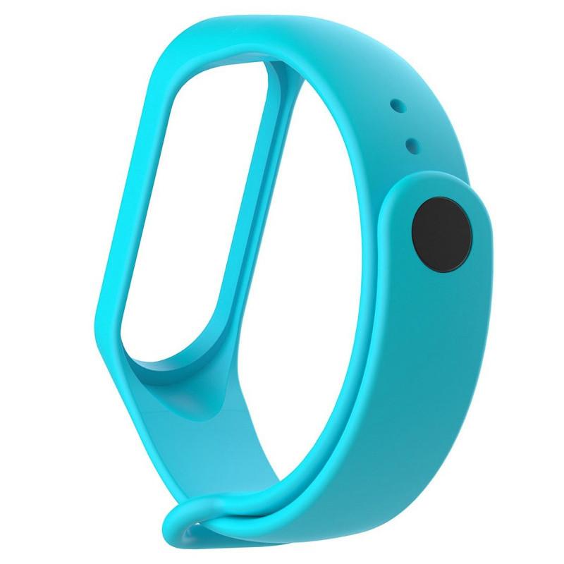 Ремінець для фітнес браслету Mi Band 3/4 (Silicon) Light Blue - 2