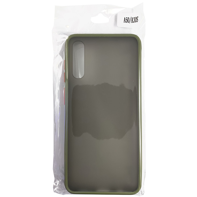 Чохол Totu Copy Gingle Series for Samsung A50S Dark Green+Orange - 4
