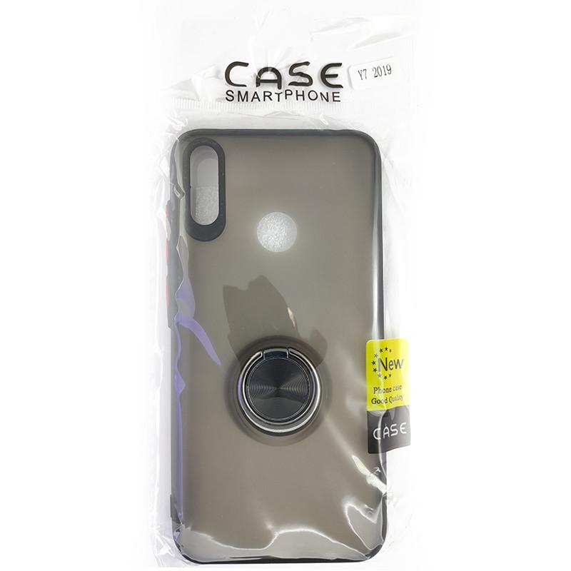Чохол Totu Copy Ring Case Huawei Y7 2019 Black+Red - 5
