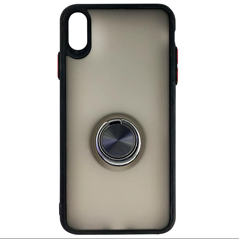 Чохол Totu Copy Ring Case iPhone XS MAX Black+Red - 3