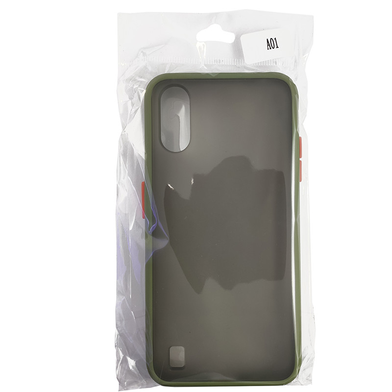 Чохол Totu Copy Gingle Series for Samsung A01 (A015) Dark Green+Orange - 4