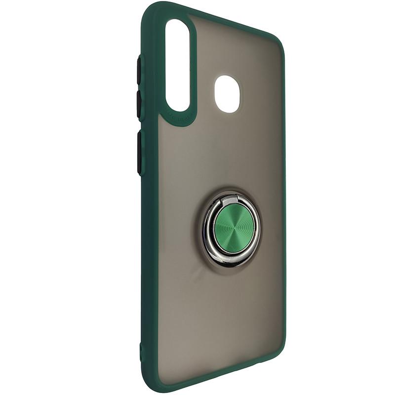 Чохол Totu Copy Ring Case Samsung A20/A30/M10S Green+Black - 1