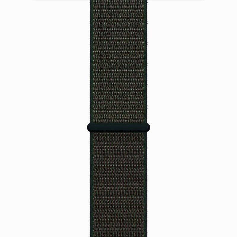 Ремінець для Apple Watch (42-44mm) Sport Loop Dark Green - 1