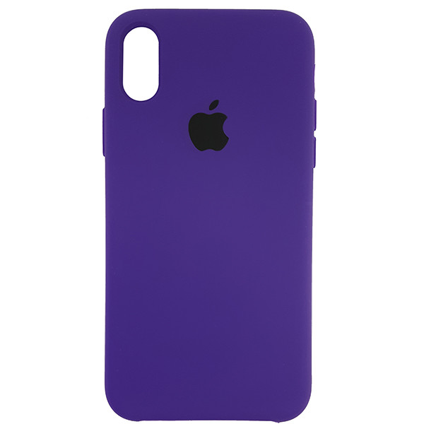 Чохол Copy Silicone Case iPhone X/XS Violet (30) - 3