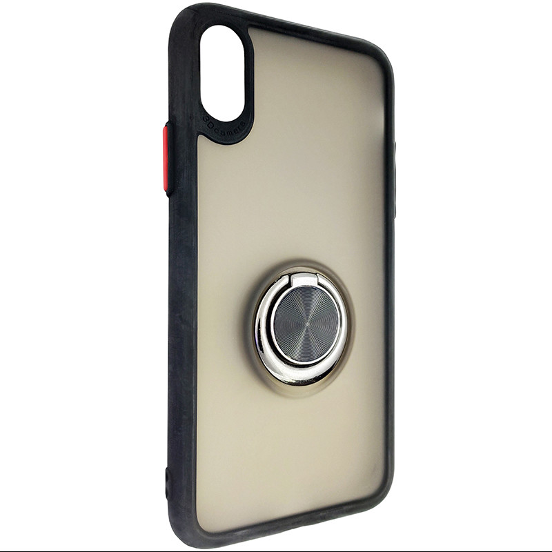 Чохол Totu Copy Ring Case iPhone X/XS Black+Red - 1