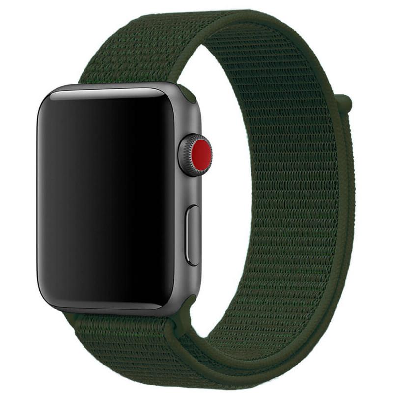Ремінець для Apple Watch (42-44mm) Sport Loop Dark Green - 2