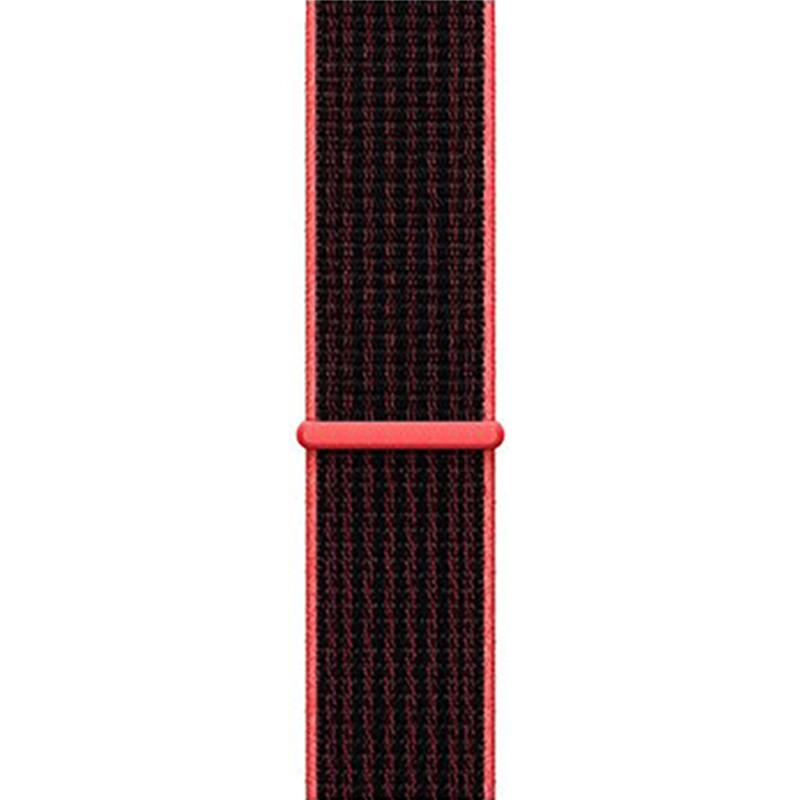 Ремінець для Apple Watch (38-40mm) Sport Loop Nike Black/Red - 1