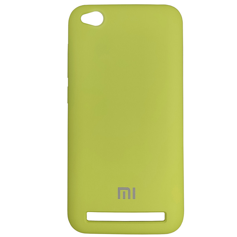 Silicone Case for Xiaomi Redmi 5A Yellow-Green (34) - 1