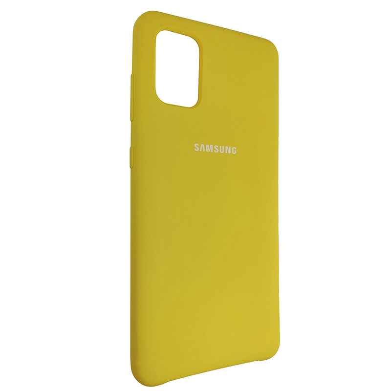 Чохол Silicone Case for Samsung A31 Yellow (4) - 2