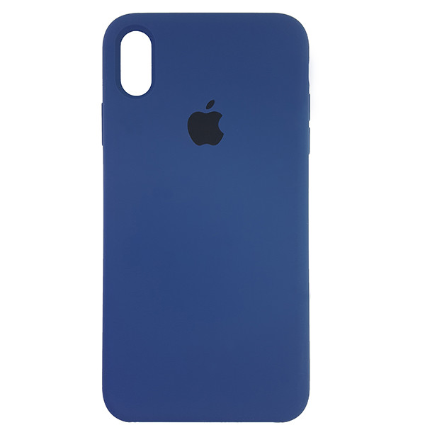 Чохол Copy Silicone Case iPhone XS Max Dark Blue (10) - 3