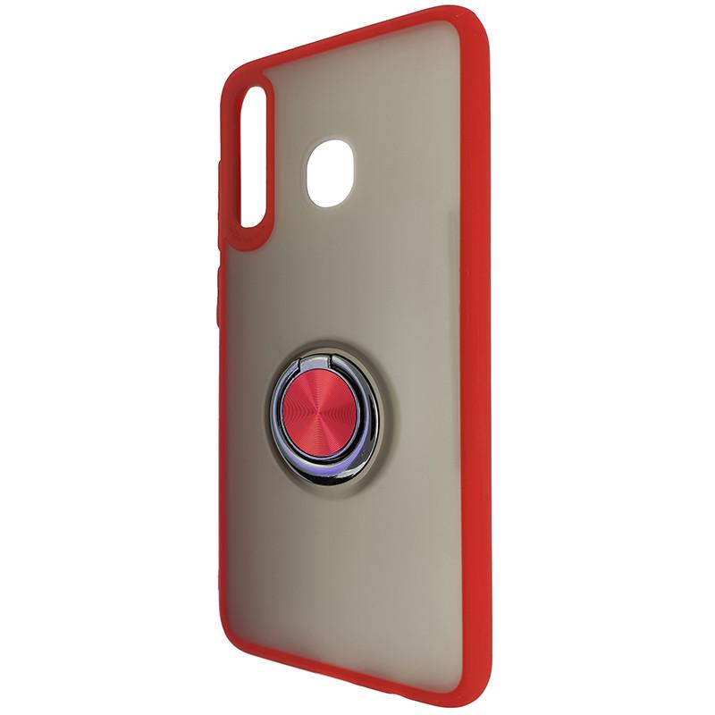 Чохол Totu Copy Ring Case Samsung A20/A30/M10S Red+Black - 3