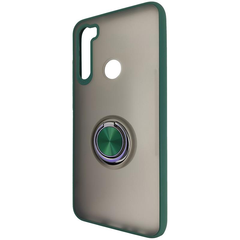 Чохол Totu Copy Ring Case Xiaomi Redmi Note 8T Green+Black - 3