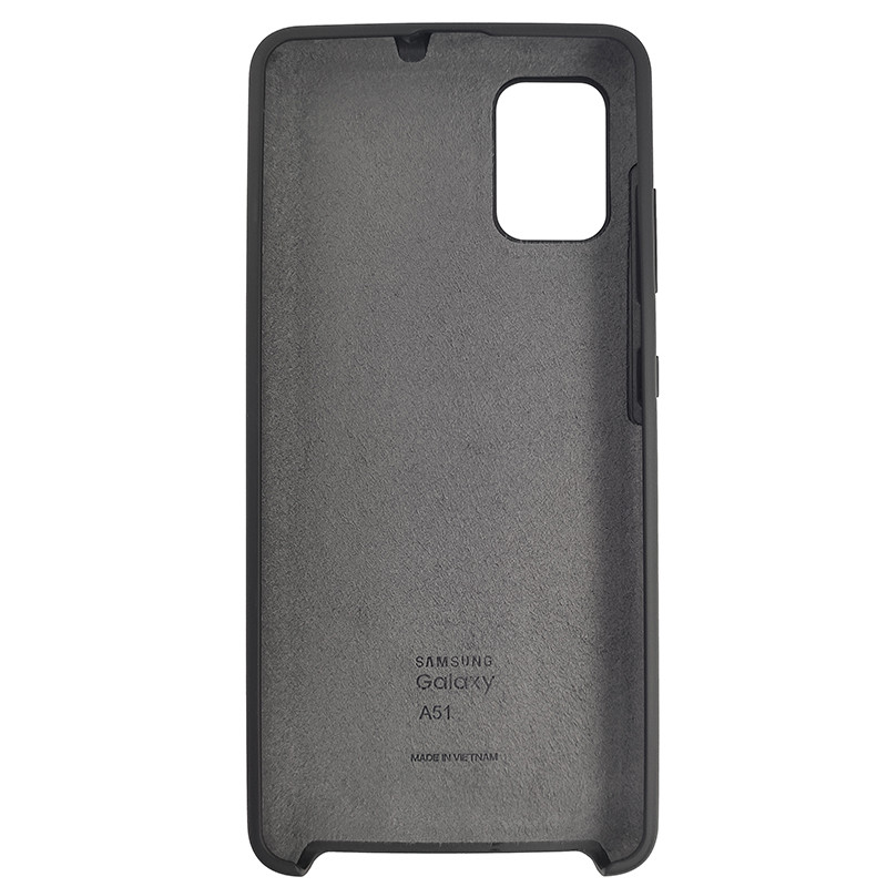 Чохол Silicone Case for Samsung A51 Black (18) - 3