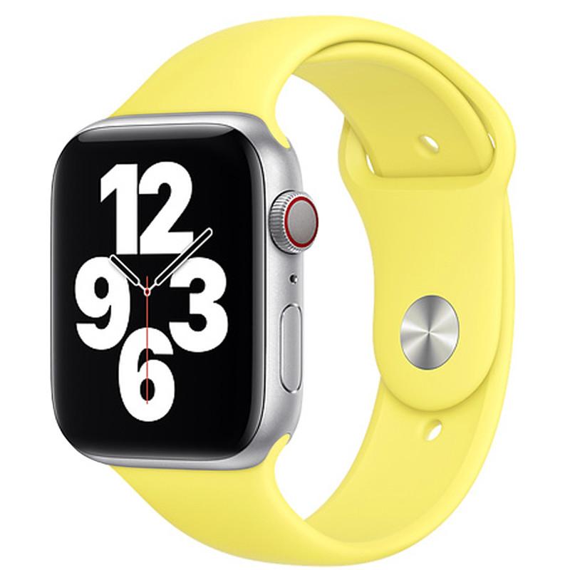 Ремінець для Apple Watch (38-40mm) Sport Band Flash Yellow (32)  - 2