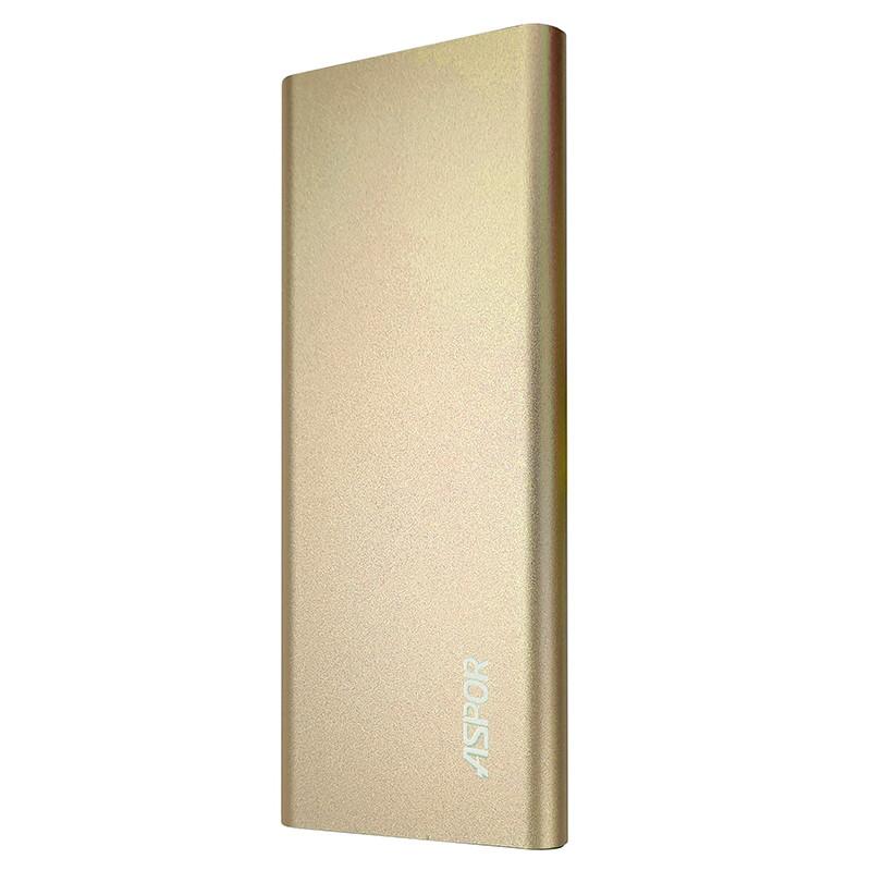 Power Bank Aspor A383 10000mAh, Gold - 1