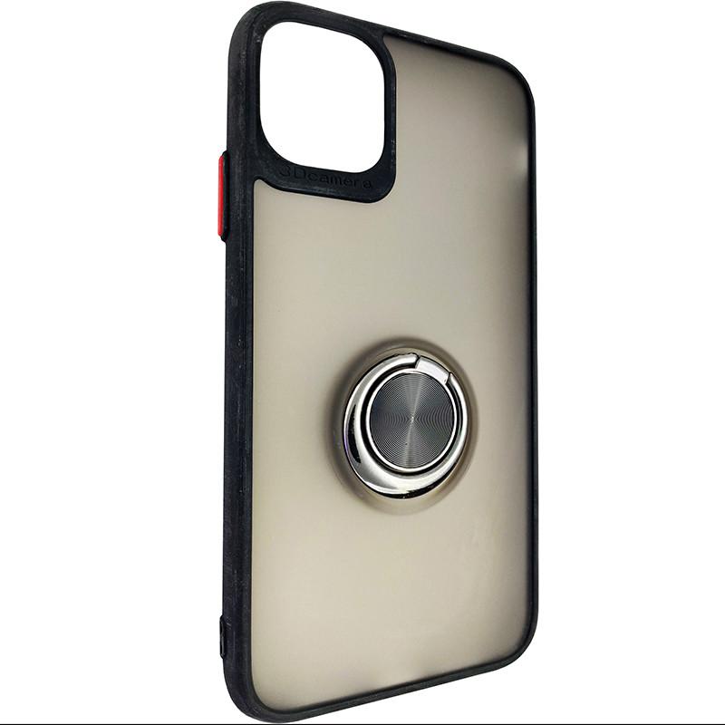 Чохол Totu Copy Ring Case iPhone 11 Black+Red - 1