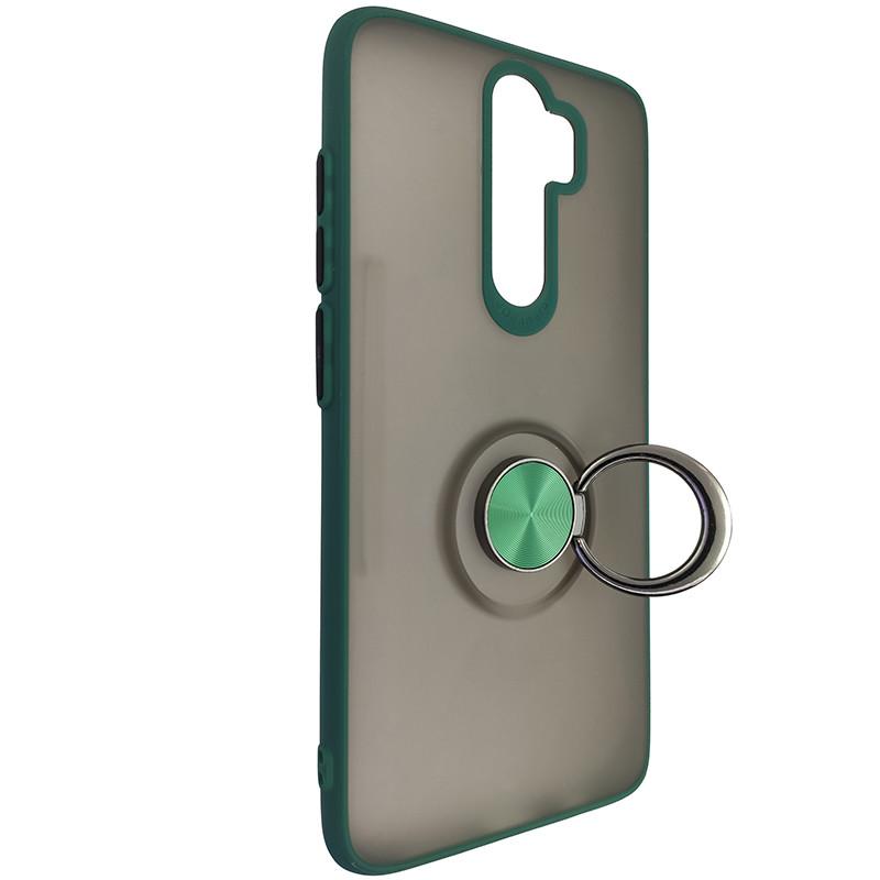 Чохол Totu Copy Ring Case Xiaomi Redmi Note 8 Pro Green+Black - 2