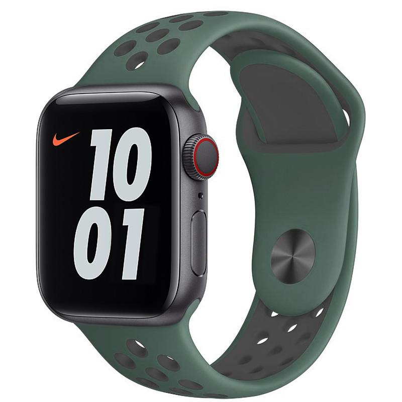 Ремінець для Apple Watch (38-40mm) Nike Sport Band Wood Green/Gray - 2