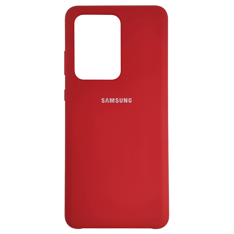 Чохол Silicone Case for Samsung S20 Ultra Red (14) - 1