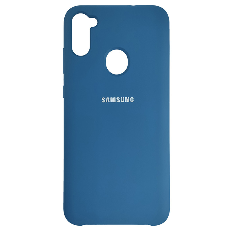 Чохол Silicone Case for Samsung A11/M11 Cobalt Blue (40) - 1