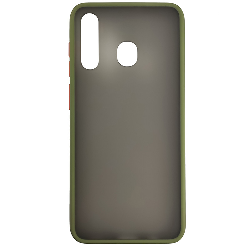 Чохол Totu Copy Gingle Series for Samsung A20/A30 Dark Green+Orange - 2