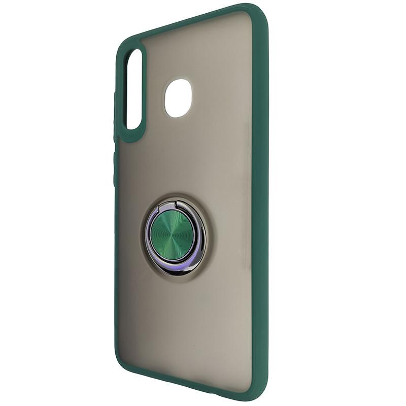 Чохол Totu Copy Ring Case Samsung A20/A30/M10S Green+Black - 3