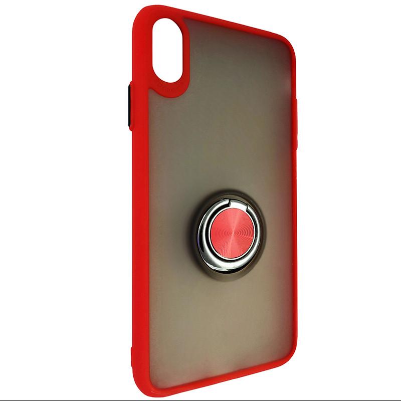 Чохол Totu Copy Ring Case iPhone XS MAX Red+Black - 1