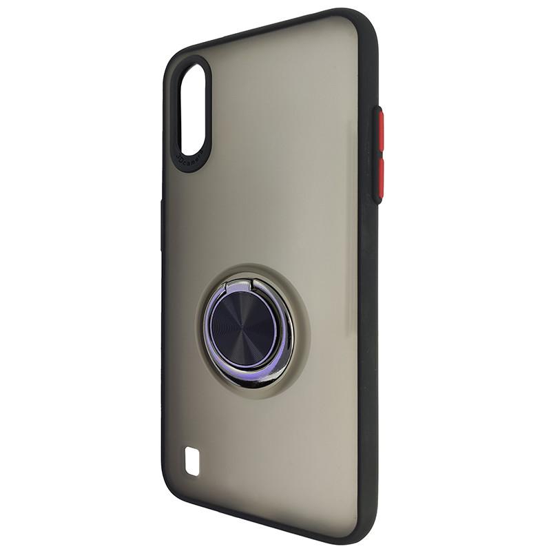 Чохол Totu Copy Ring Case Samsung A01 (A015) Black+Red - 3