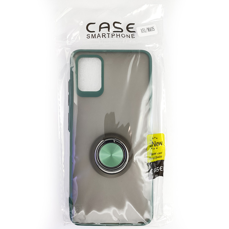 Чохол Totu Copy Ring Case Samsung A51/M40S Green+Black - 5