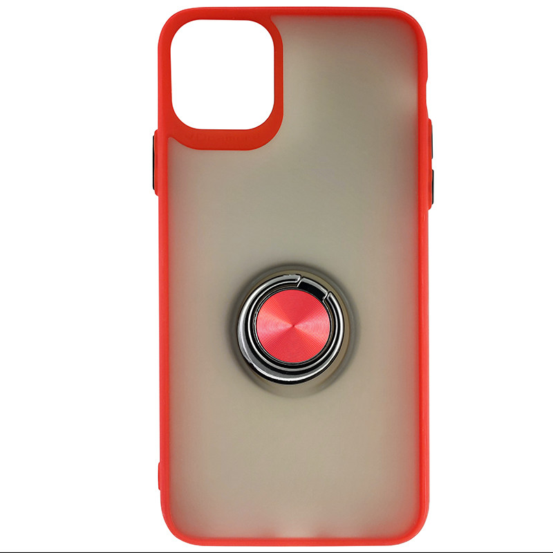 Чохол Totu Copy Ring Case iPhone 11 Pro Max Red+Black - 3