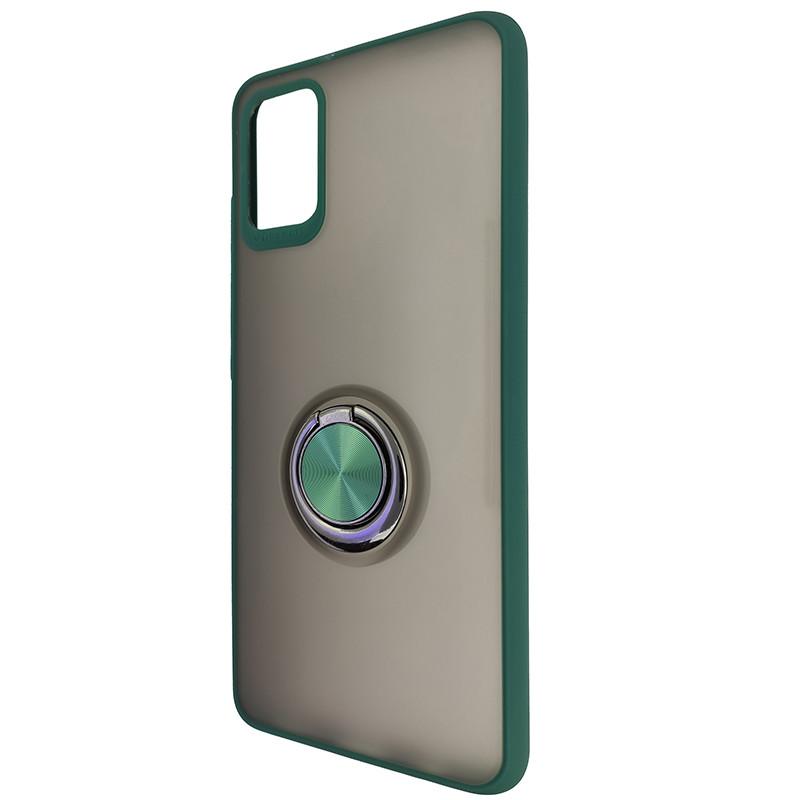 Чохол Totu Copy Ring Case Samsung A51/M40S Green+Black - 3