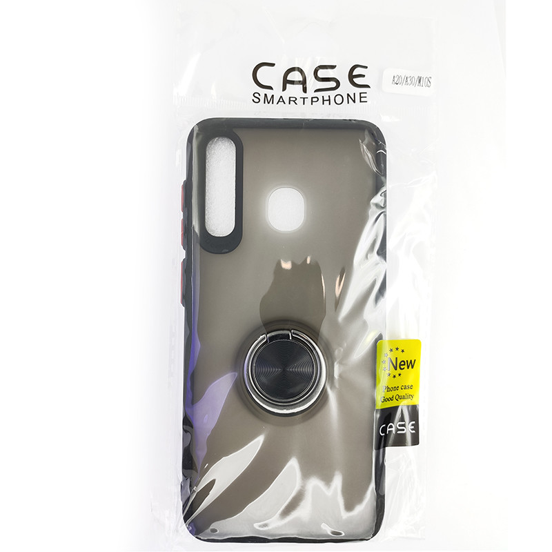 Чохол Totu Copy Ring Case Samsung A20/A30/M10S Black+Red - 5