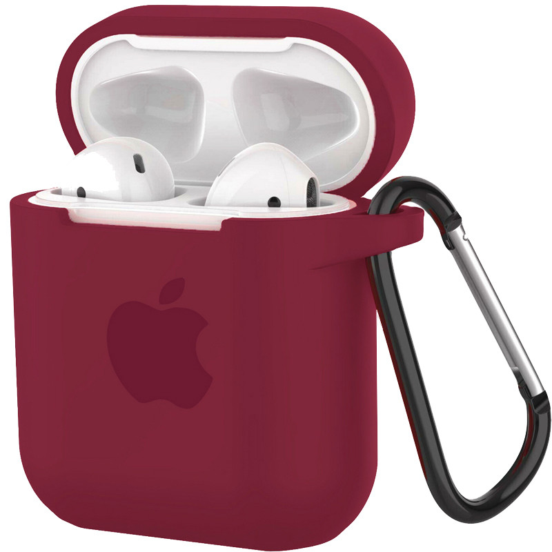 Silicone Case for AirPods Rose Red (36) - 1