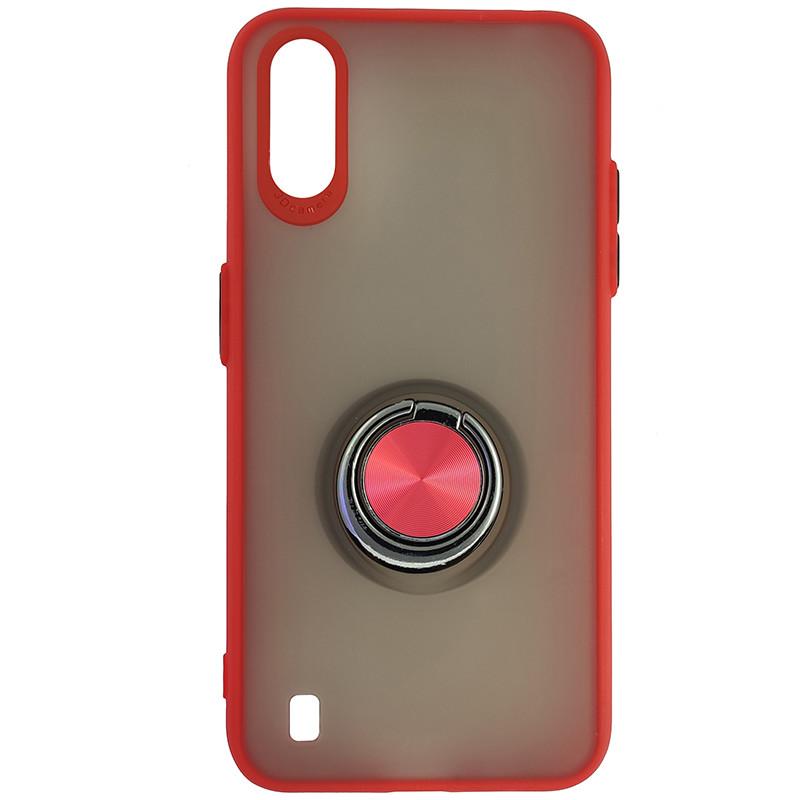 Чохол Totu Copy Ring Case Samsung A01 (A015) Red+Black - 4