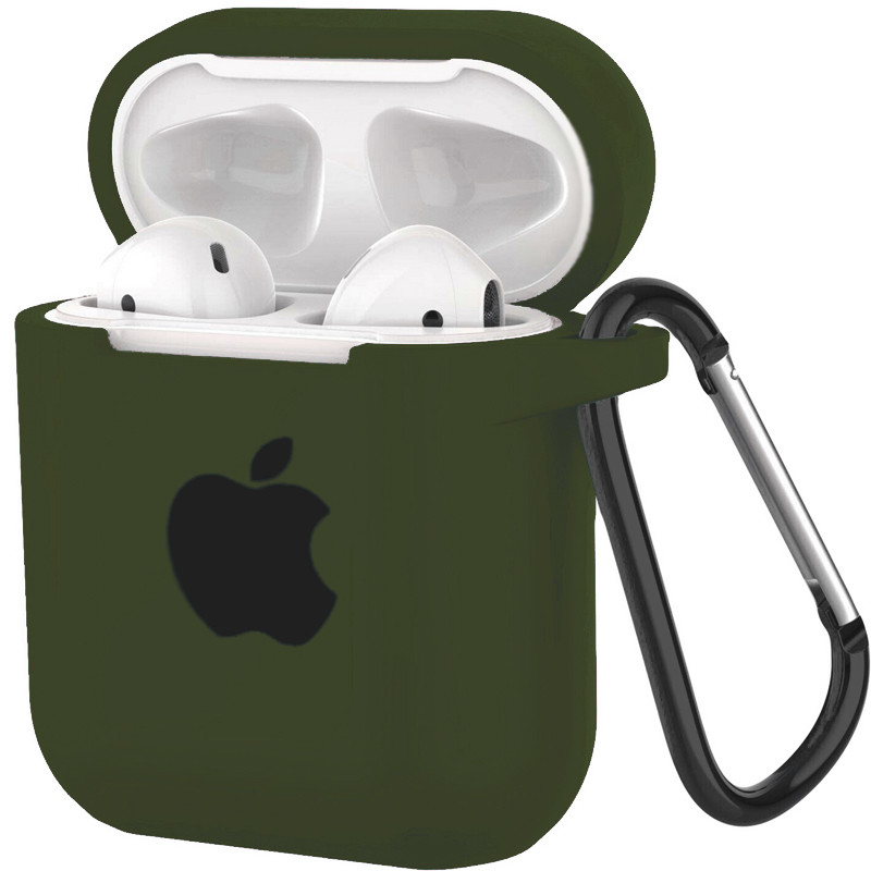 Silicone Case for AirPods Dark Green (48) - 1