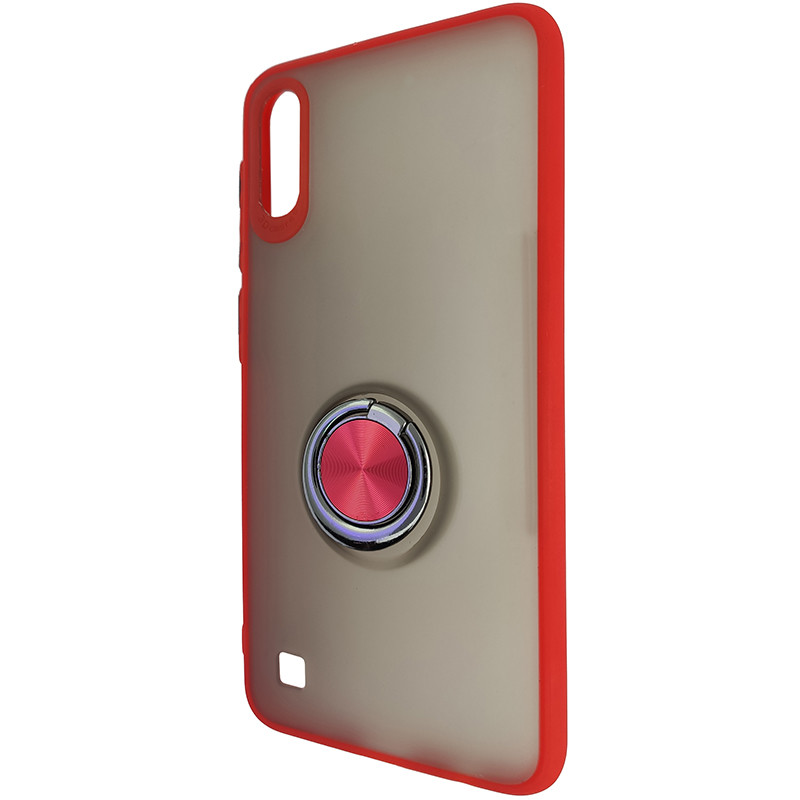 Чохол Totu Copy Ring Case Samsung A10 Red+Black - 3