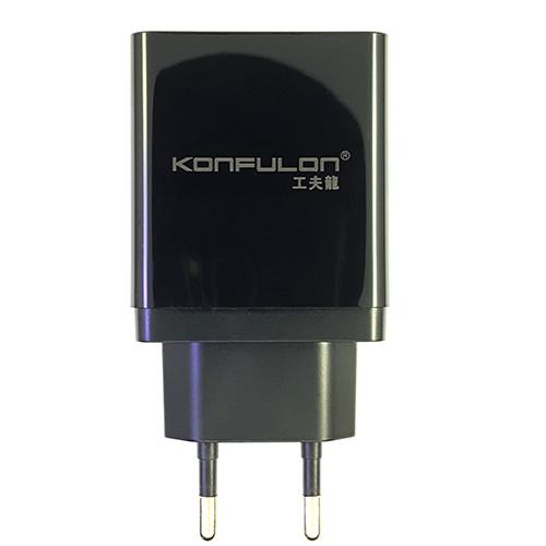 Зарядний пристрій Konfulon C59 1xUSB, 1xPD+QC 3.0 Black - 1