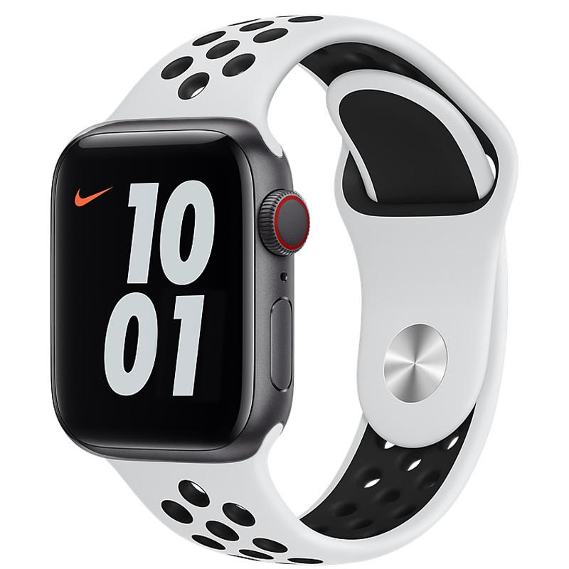 Ремінець для Apple Watch (38-40mm) Nike Sport Band White/Black - 2