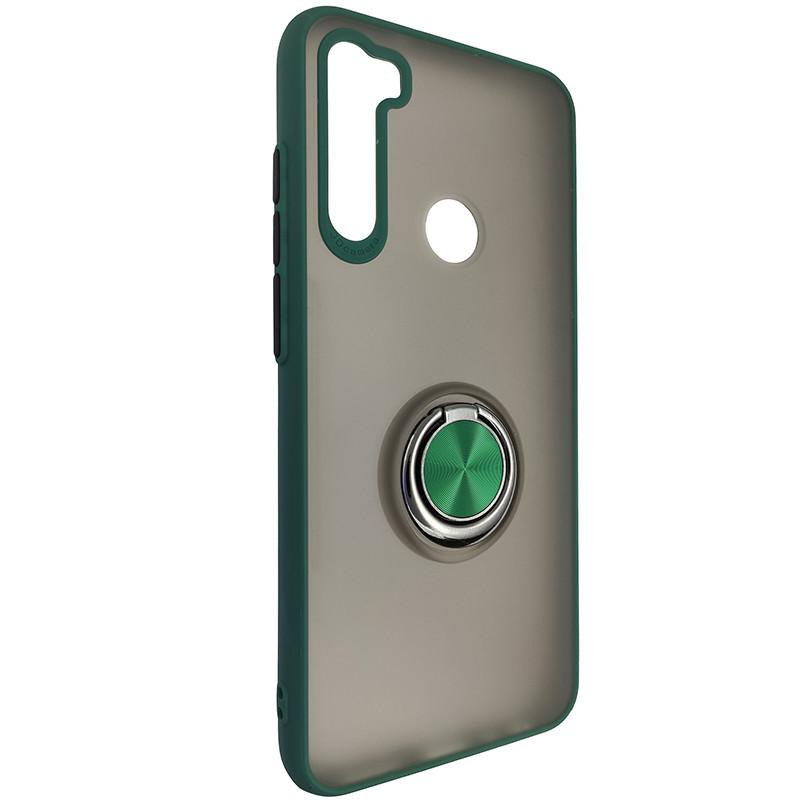 Чехол Totu Copy Ring Case Xiaomi Redmi Note 8T Green+Black - 1