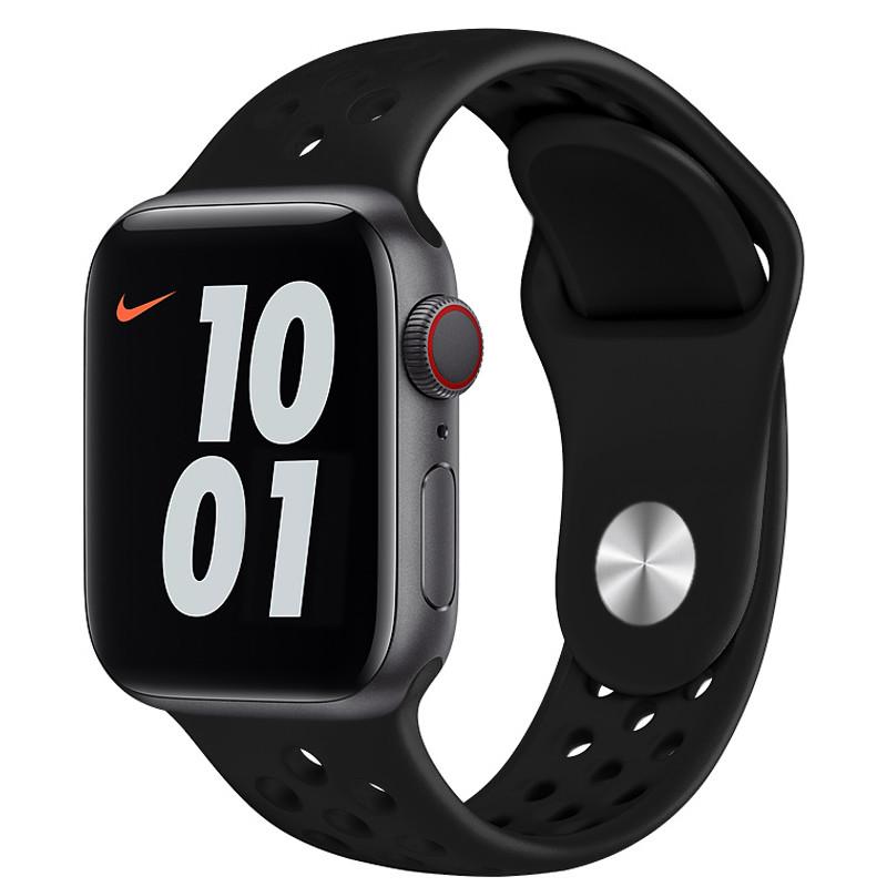 Ремінець для Apple Watch (42-44mm) Nike Sport Band Black - 2