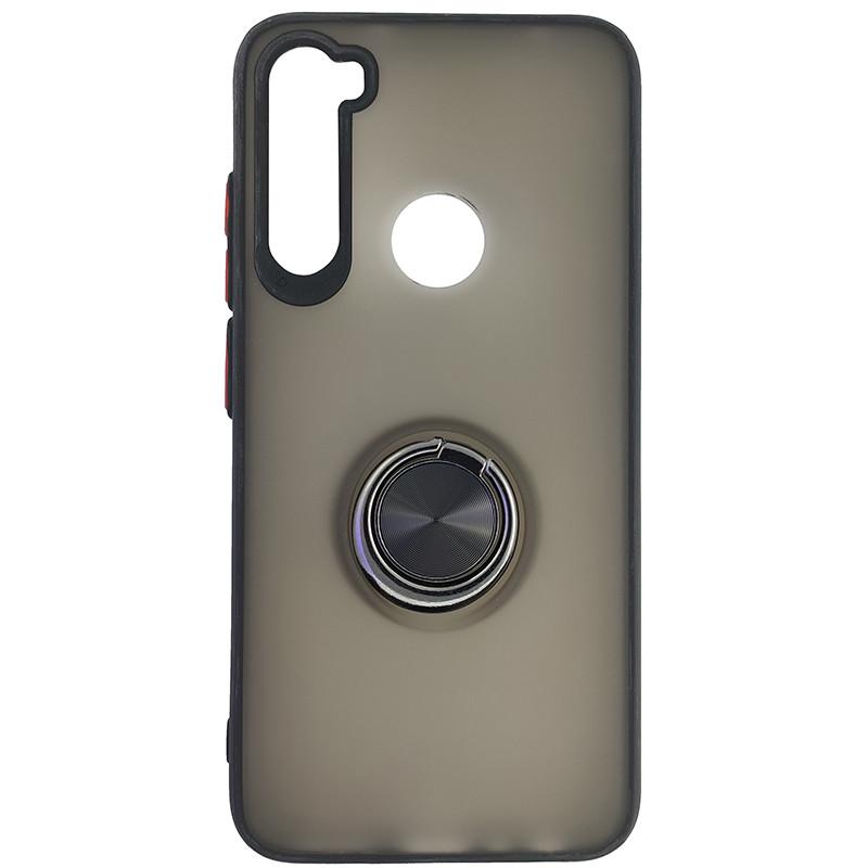 Чохол Totu Copy Ring Case Xiaomi Redmi Note 8 Black+Red - 4